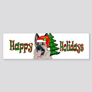 German Shepherd Holiday Bumper Sticker