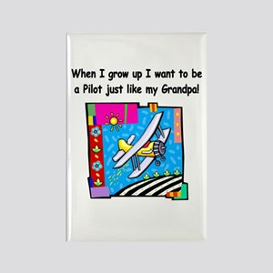 Airplane Pilot Grandpa Rectangle Magnet