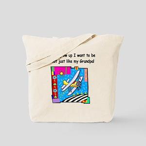 Airplane Pilot Grandpa Tote Bag