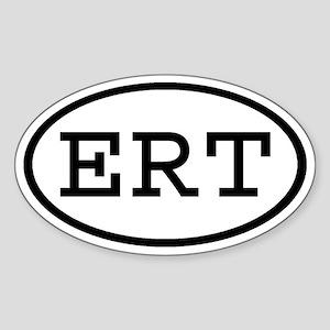 ERT Oval Oval Sticker