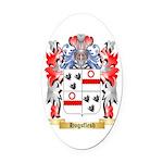 Hogsflesh Oval Car Magnet