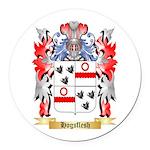Hogsflesh Round Car Magnet