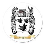 Hoggins Round Car Magnet