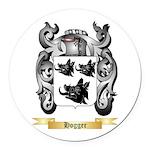 Hogger Round Car Magnet