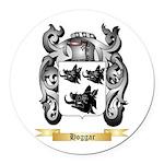 Hoggar Round Car Magnet