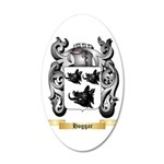 Hoggar 20x12 Oval Wall Decal
