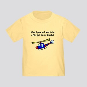 Helicopter Pilot Grandpa Toddler T-Shirt