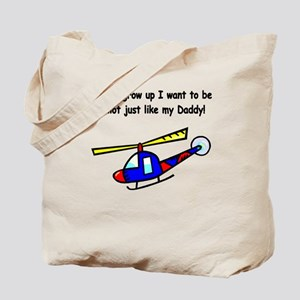 Helicopter Pilot Daddy Tote Bag