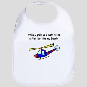 Helicopter Pilot Daddy Bib