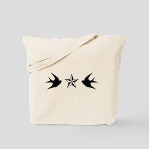Swallows and Stars Tote Bag
