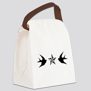 Swallows and Stars Canvas Lunch Bag