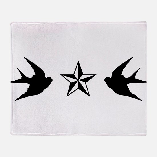 Swallows and Stars Throw Blanket