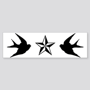Swallows and Stars Bumper Sticker