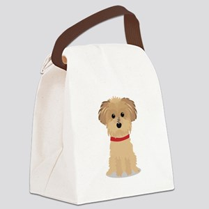 Terrier Puppy Canvas Lunch Bag