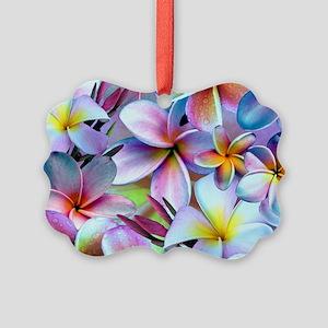 Rainbow Plumeria Ornament