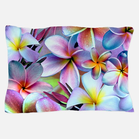 Rainbow Plumeria Pillow Case