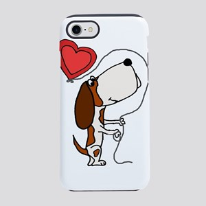 Funny Basset Hound Dog Love iPhone 7 Tough Case