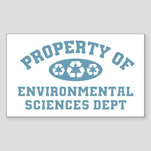 Property Of Environmental Sciences Sticker