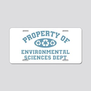 Property Of Environmental Sciences Aluminum Licens