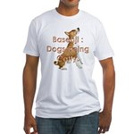 Basenji: Dogs being Catty Fitted T-Shirt