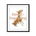 Basenji: Dogs being Catty Framed Panel Print