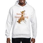 Basenji: Dogs being Catty Hooded Sweatshirt