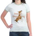 Basenji: Dogs being Catty Jr. Ringer T-Shirt