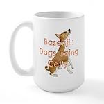 Basenji: Dogs being Catty Large Mug