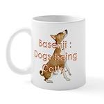 Basenji: Dogs being Catty Mug