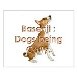 Basenji: Dogs being Catty Small Poster