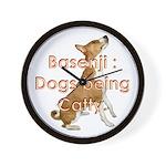 Basenji: Dogs being Catty Wall Clock