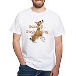 Basenji: Dogs being Catty White T-Shirt