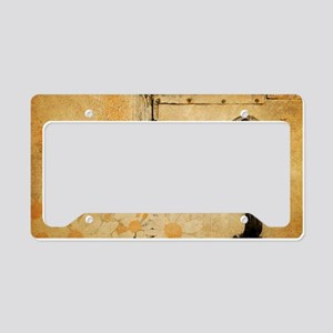 rustic country daisy License Plate Holder