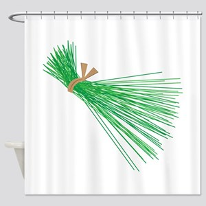 Chives_Base Shower Curtain