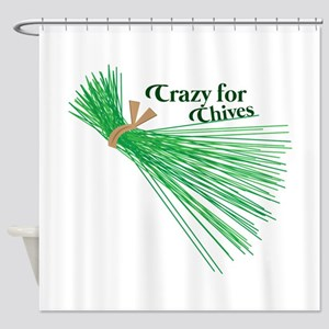 Chives_Crazy For Chives Shower Curtain