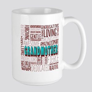 Grandmother Word Cloud Large Mug