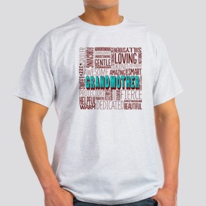 Grandmother Word Cloud Light T-Shirt