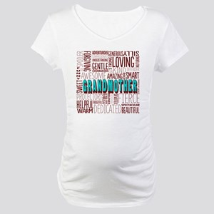 Grandmother Word Cloud Maternity T-Shirt