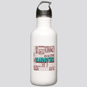Grandmother Word Cloud Stainless Water Bottle 1.0L