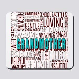 Grandmother Word Cloud Mousepad