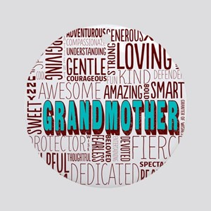 Grandmother Word Cloud Ornament (Round)
