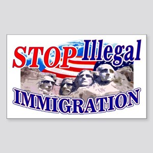 Stop Illegal Immigration Rectangle Sticker