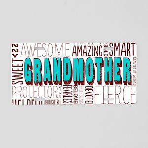 Grandmother Word Cloud Aluminum License Plate