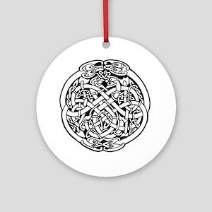 Zoomorphic Celtic Circle Ornament (Round)