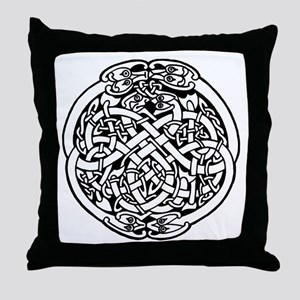 Zoomorphic Celtic Circle Throw Pillow