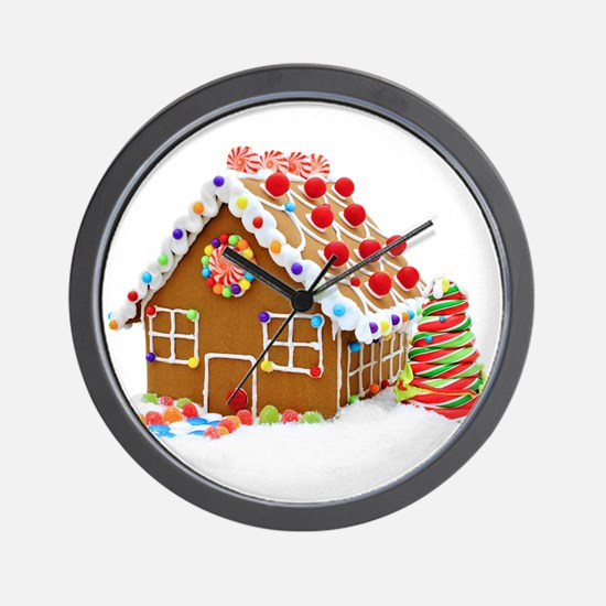 Gingerbread House Wall Clock