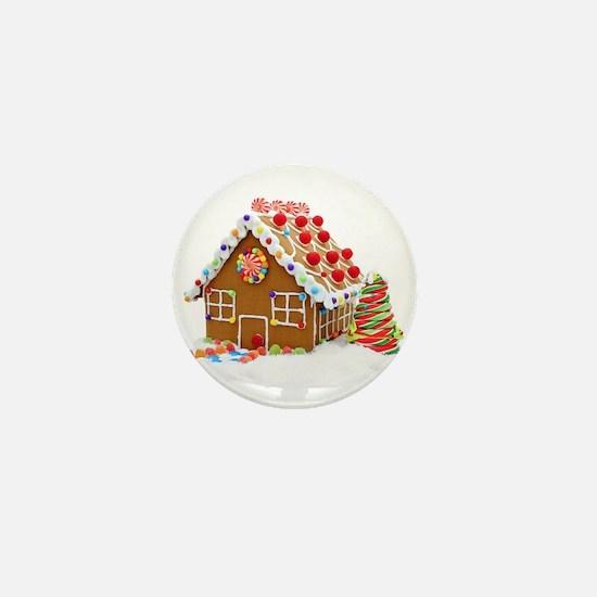 Gingerbread House Mini Button