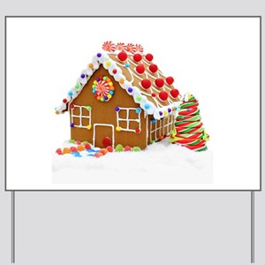 gingerbread house yard sign - Christmas Gingerbread House Yard Decoration