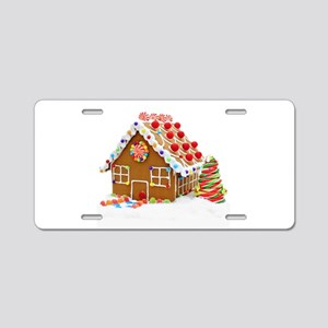 Gingerbread House Aluminum License Plate