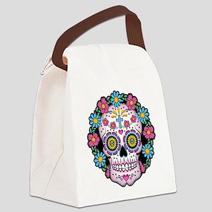Dia de los Muertos Skull Canvas Lunch Bag